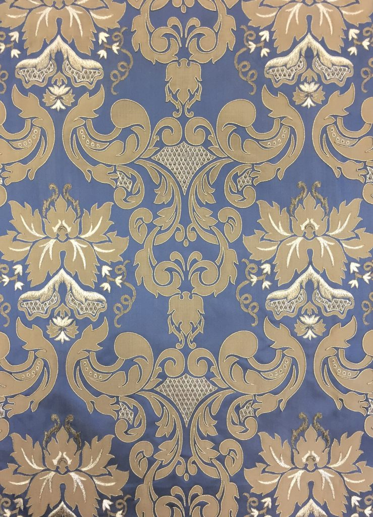 Deco silk 3807A - bespoke hand embellishing of Turnell & Gigon design by Palestrina London