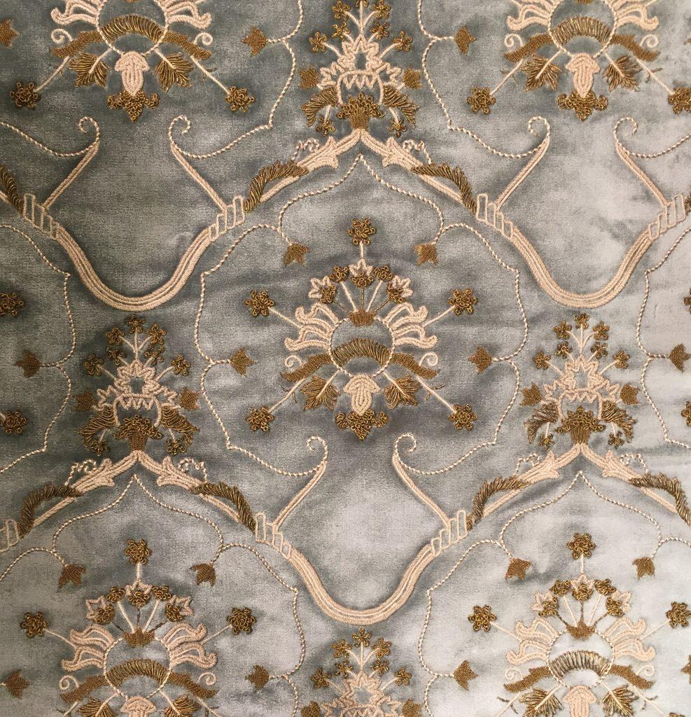 Carcassonne - bespoke hand embellishing of Turnell & Gigon design by Palestrina London
